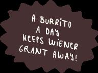 a burrito a day